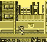 Hammerin' Harry: Ghost Building Company Game Boy Harry at the construction site