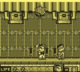 Hammerin' Harry: Ghost Building Company Game Boy Destroy that robot