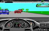 The Duel: Test Drive II DOS Haha! The opponent wrecked his $260000 Ferrari (EGA)