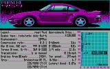 The Duel: Test Drive II DOS Car selection (CGA)