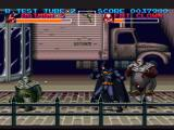 Batman Returns SNES Fighting pesky fat clowns in front of a truck