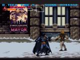 Batman Returns SNES Fighting swordsmen on a snowy level