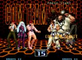 The King of Fighters 2002: Challenge to Ultimate Battle Neo Geo Choosing the opponent team.