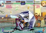 The King of Fighters 2002: Challenge to Ultimate Battle Neo Geo Mature is grabbed by Kula, and now, passes a lot of frozen moments in her closing-move Ice Coffin...