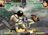 The King of Fighters 2002: Challenge to Ultimate Battle Neo Geo Even being fast, Robert Garcia wasn't enough fast to escape from Chang Koehan's move Haki Kyaku...