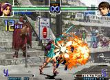 The King of Fighters 2002: Challenge to Ultimate Battle Neo Geo Athena Asamiya's SDM Psychic 9 second ending: her old-skool armor costume (Fire Sword Finish).