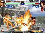 The King of Fighters 2002: Challenge to Ultimate Battle Neo Geo It's rare to see Terry Bogard's DM Power Geyser and Mai Shiranui's Ryuu Enbu hitting simultaneously!