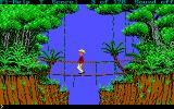 Hugo III: Jungle of Doom DOS The bridge looks dangerous..