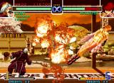 The King of Fighters 2002: Challenge to Ultimate Battle Neo Geo Using all the flaming range of his SDM Gouran Enpou, Chin Gentsai counter-hits Shermie successfully!