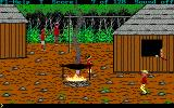 Hugo III: Jungle of Doom DOS Hugo arrives at a village..