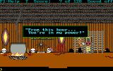 Hugo III: Jungle of Doom DOS Captured by the witch doctor..