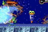 Jazz Jackrabbit Game Boy Advance Enter the carrot gate to end the level.