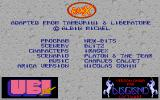 Ranx: The Video Game Amiga Credits screen