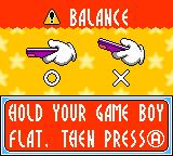 Kirby Tilt 'n' Tumble Game Boy Color Balance the Game Boy