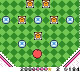 Kirby Tilt 'n' Tumble Game Boy Color Bounding throughout the level