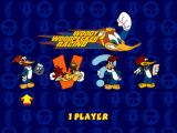 Woody Woodpecker Racing PlayStation Main menu.