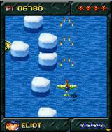 Assault Wings 1944 J2ME You can shoot the ice floes to block and sink the boats.