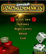 Gameloft Backgammon J2ME Title screen