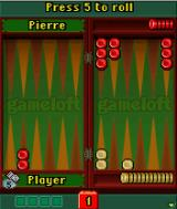 Gameloft Backgammon J2ME A game in progress