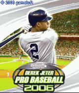 Derek Jeter Pro Baseball 2006 J2ME Title screen
