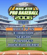 Derek Jeter Pro Baseball 2006 J2ME Main game screen