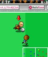 Crazy Football 2006 J2ME The Shaolin Monk attacks from the flank.