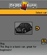 Crash N Burn J2ME Car selection screen