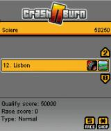 Crash N Burn J2ME Track selection screen