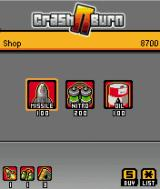 Crash N Burn J2ME The shop where you can buy upgrades - ten is the maximum amount for each item.