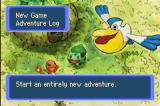 Pokémon Mystery Dungeon: Red Rescue Team Game Boy Advance Main Menu