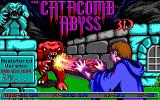 The Catacomb Abyss DOS Title screen