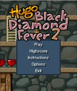 Hugo: Black Diamond Fever 2 J2ME Main game screen