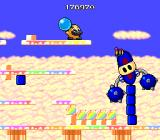 Liquid Kids TurboGrafx-16 Destroy those blue blocks under him