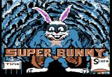 Super Bunny Apple II Title screen.