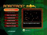 Robotron: 2084 Xbox 360 Title and main menu