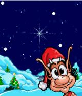 Hugo in the Xmas Snow J2ME Main game screen