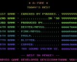 A-Type Amiga High scores