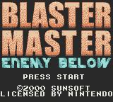 Blaster Master: Enemy Below Game Boy Color American title screen