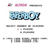 Paperboy NES Japanese title screen