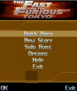 The Fast and the Furious: Tokyo J2ME Main game screen