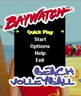 Baywatch Beach Volleyball J2ME Main game screen