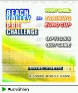 Beach Volley Pro Challenge J2ME Main game screen