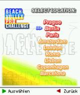 Beach Volley Pro Challenge J2ME Venue selection in the eurocup
