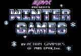 Winter Games Apple II Title screen.
