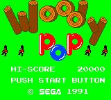 Woody Pop Game Gear Title screen