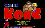CHAMP Kong DOS The title screen and main menu.