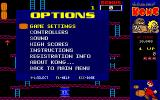 CHAMP Kong DOS The Options menu.