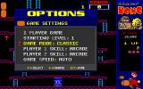 CHAMP Kong DOS The Game Settings menu allows you to switch from Classic to Champ mode.