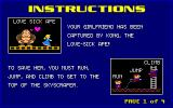 CHAMP Kong DOS Game instructions.