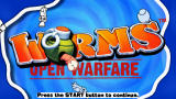 Worms: Open Warfare PSP Title screen
